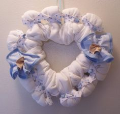 This item is unavailable Diaper Bouquet, Diaper Wreath, Wedding Broom, Heart Shaped Frame, Heart Wreath, Baby Decor, Cloth Diapers, Burlap Wreath, Paper Flowers