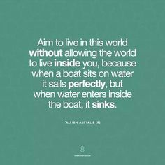 Don't be that sinking boat