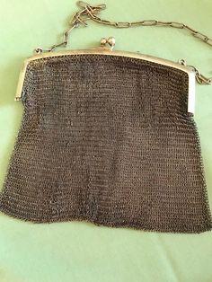 5030aa1e19cf Antique Ladies Rolled Gold Mesh Handbag Purse , Early 1900 | eBay Золотые  Цепочки