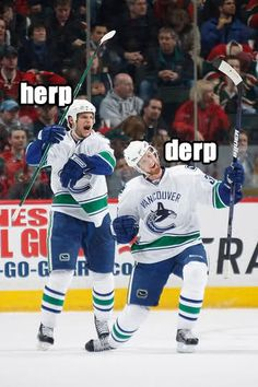 Pretty much sums last season. We better be better when season starts Hockey Logos, Hockey Memes, Vancouver Canucks, Hockey Pictures, Florida Panthers, World Of Sports, Derp, Nhl, Baseball Cards