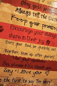 Family Values Canvas - easy to make and looks amazing.  Canvas. Mod Podge. Scrapbook Paper.  Paint.  Think of the variations!?  New Baby, Christmas, Halloween, Kids, on and on...