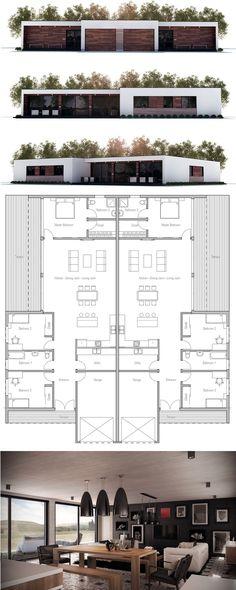 Duplex House Plan, New Home Idea