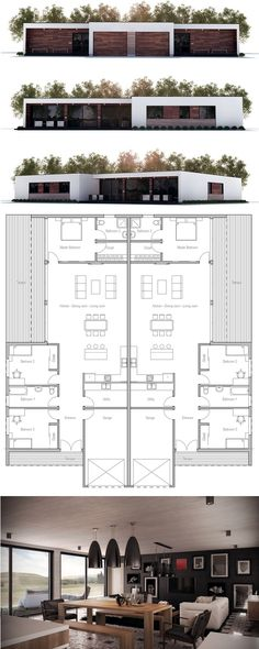 Duplex House Plan, New Home Idea