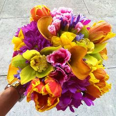 NYC Flower Project - Exotic Flowers and Colors Bouquet