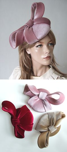 Dusky Pink Velvet Bow Smartie Cocktail Hat Headpiece Fascinator - Autumn Winter Weddings. Velvet hat for a Winter wedding Guest. Ideas for what to wear to a Winter Wedding. Fascinator for an Autumn Wedding Guest. Handmade designer Mother of the Bride Hat. Dusty Pink Mother of the Bride Hat. Hats for Autumn wedding guests. Millinery. Autumn wedding outfit ideas. #millinery #motherofthebride #dustypink #duskypink #hatista #dress2impress Race Day Fashion, Races Fashion, Winter Fashion Outfits, Winter Wedding Guests, Winter Weddings, Autumn Wedding, Velvet Hat, Pink Velvet, Mother Of The Bride Hats