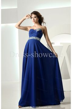 royal blue dresses | ... Occasion Dresses >Holiday Floor-Length Chiffon Royal Blue Dress