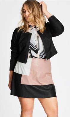 Spliced Player Jacket   City Chic