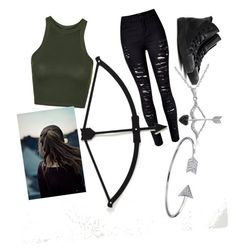 """Robin hood"" by mercy123 ❤ liked on Polyvore featuring Topshop, Converse, Bling Jewelry and Amanda Rose Collection"