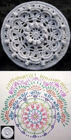 How to make a magic ring in crochet Motif Mandala Crochet, Crochet Circles, Crochet Diagram, Freeform Crochet, Crochet Stitches Patterns, Crochet Squares, Thread Crochet, Irish Crochet, Crochet Designs
