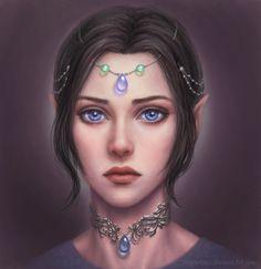 Elf girl portrait by marurenai on DeviantArt