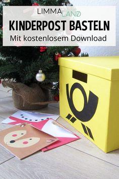 Wie wärs mal mit einem anderen Rollenspiel als Kaufladen oder Kinderküche? Die Post eignet sich dazu hervorragend! Bei uns findest du die Anleitung für diesen tollen gelben Postkasten und liebevoll gestaltete DIY Briefumschläge - www.limmaland.com