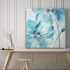Shop for Blue Spring Poppy II - Premium Gallery Wrapped Canvas - 4 Sizes Available. Get free delivery at Overstock - Your Online Art Gallery Store! Get in rewards with Club O! Lotus Painting, Oil Painting Flowers, Painting Prints, Floral Paintings, Canvas Wall Art, Canvas Prints, Iron Wall Decor, Blue Springs, Online Art Gallery