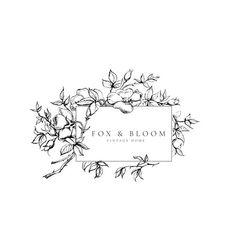 Logo design with floral illustrations Logo Fleur, Boutique Logo, Bullet Journal Art, Botanical Illustration, Floral Illustrations, Business Logo, Business Design, Art Plastique, Logo Design Inspiration