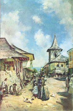 Description Theodor Aman - Street in Cîmpulung, 1890.jpg