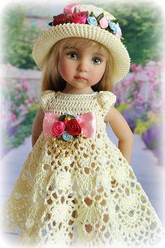 Doll Patterns Free, Vintage Crochet Patterns, Crochet Designs, Pretty Dolls, Beautiful Dolls, Our Generation Dolls, Glitter Girl, Crochet Doll Clothes, Little Darlings