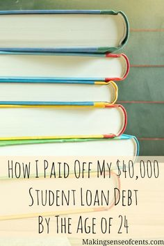 How to pay off student loans. Here's how one graduate got out of debt by age 24 - and how enjoys a debt free life! Debt Payoff Tips, Paying Off Student Loans, Student Loan Debt, Dave Ramsey, Ways To Save Money, Money Saving Tips, Money Tips, Credit Card Interest, Payday Loans, Debt Payoff