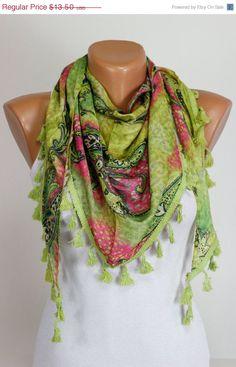 Double Face, Green, Pink, Yellow, Leopard Design, Scarf, lace Fringe, Women Accessories, 4 Seasons, Silky, Shawl, Wrap, Foulard, Scarves