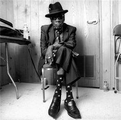 PAUL NATKINOne of the last photographs of John Lee Hooker