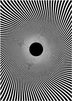 The Rotating-Tilted-Lines Illusion, by vision scientists Simone Gori and Kai Hamburger, then at the University of Freiburg in Germany, is a novel variation of the Enigma effect and Bridget Riley's Blaze. To best observe the illusion, move your head closer and then farther away from your computer screen. As you approach the image, notice that the radial lines appear to rotate counterclockwise. As you move away from the image, they appear to rotate clockwise...
