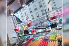 Macarons at the chocolate bar of the Cadran Hotel in Paris. Yummy!! http://www.cadranhotel.com/