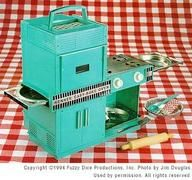 Easy Bake Oven from when I was a younger child. Doesn't resemble any that are made today.
