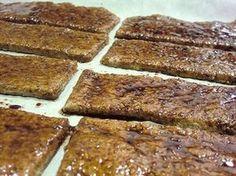 Vegan Jerky Mix, brushed with marinade