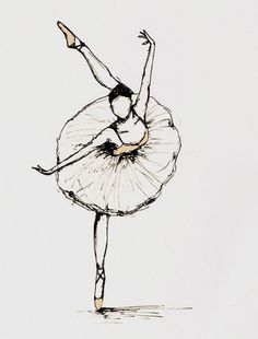 Outline of a dancer