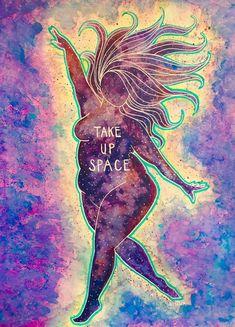 Take Up Space 9x12 Digital Print of a Kat Kissick Original | Etsy