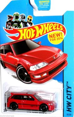 1990 Honda Civic EF 2014 Hot Wheels HW CITY #30/250 Red