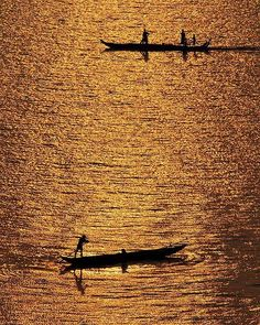 Travel by water ... the Mekong River, Phnom Penh.