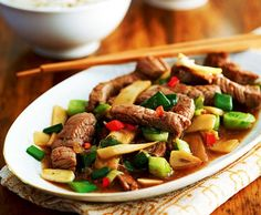 Rindfleisch nach Szechuan Art Asian Recipes, Ethnic Recipes, Kung Pao Chicken, Wok, Stir Fry, Good To Know, Fries, Cooking, Dinner Ideas