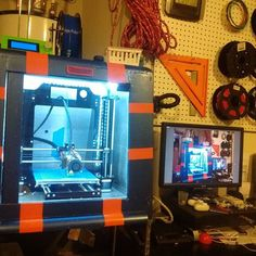 Here's one way to make a printer farm! lol #3Dprinting #prusai3 #nwa3d #fayettevillear