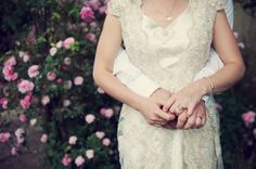 A Bride Who Wore Her Grandmother's 1949 Vintage Wedding Dress