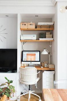 Editar la entrada < Eclecticmanía — WordPress Furniture, Small Spaces, Tiny Home Office, Small Apartment Living, Small Home Office, Home, Office Nook, Living Room Office, Home Decor