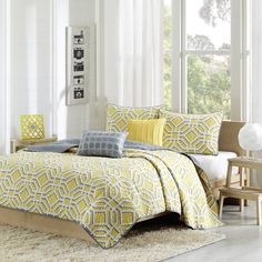99 Best Gray Yellow Bedrooms Images Bedroom Decor