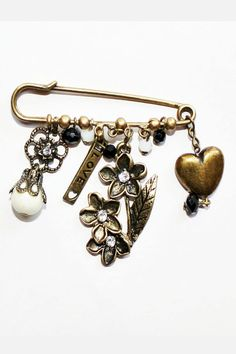 Elegant Kilt pin/safety pin brooch charm collection