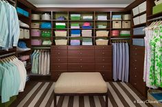 Closet Boot Camp: How to Organize Your Walk-In Closet >> http://blog.diynetwork.com/maderemade/2015/10/17/closet-boot-camp-walk-in-workouts/?soc=pinterest
