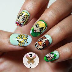 Zelda Nail Art I Love This Wind Waker The