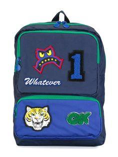 Stella Mccartney Kids 'Rocket' badges backpack