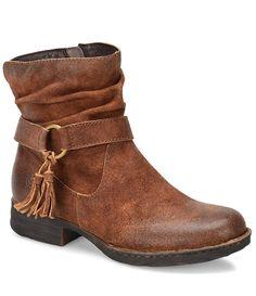 Rust:Born Cory Tassel Detail Block Heel Booties Sale $175 aud