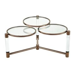 ELK Home Triple Crown Coffee Table, In Clear Acrylic, Cafe Bronze Plated Stainless Steel Home Coffee Tables, Coffee Table Wayfair, Coffee Table Styling, Modern Coffee Tables, Plywood Furniture, Table Furniture, Hans Wegner, Stainless Steel Coffee Table, Lounge