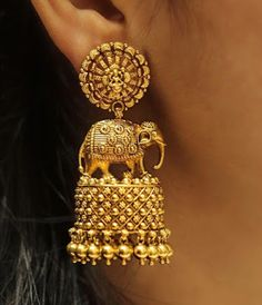 55 Beautiful Gold jhumka earring designs || Tips on Jhumka shopping | Bling Sparkle