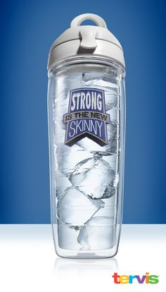 """Strong is the new Skinny"" Tervis Water Bottle. Customized designs are now 25% off"