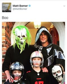 Matt tweeted a family pic for Halloween. They look great! #MattBomer