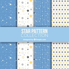 White and blue star pattern collection Free Vector Digital Scrapbook Paper, Digital Paper Free, Printable Scrapbook Paper, Printable Paper, Free Paper, Blue Sparkle Background, Watercolor Night Sky, Scrapbooking Freebies, Vintage Typography