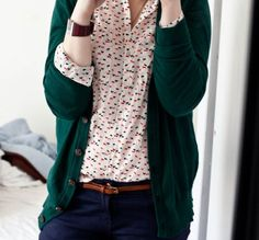 lovely shirt and cardi combo