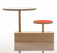 'Claus zu Tisch' Children's Stool And Table by Sirch Kids Stool, Designer Toys, Wooden Toys, Retro, Furniture, Table, Home Decor, Playmobil, Wooden Toy Plans