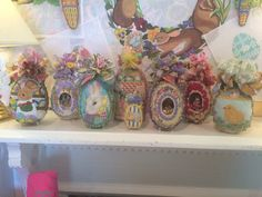 Cute Easter display at the Needle House in Houston Tx.