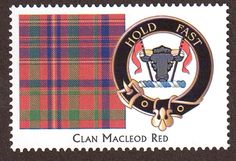 Picture of Clan Stamps - MacLeod, Red