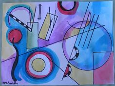 Kandinsky Art Lesson for grades 6-8